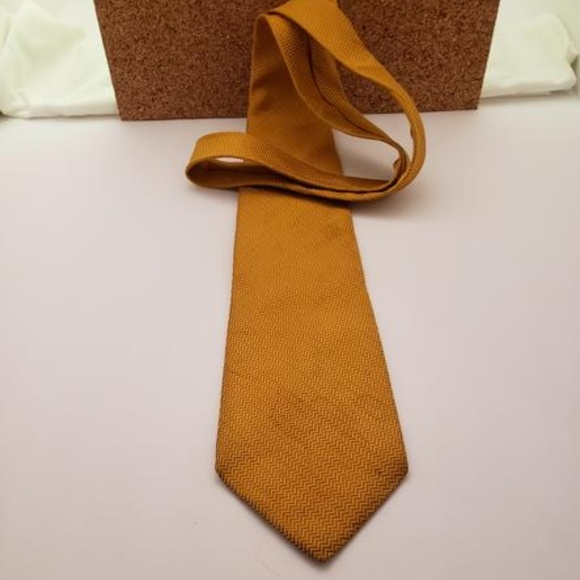 Necktie: Pure Silk shade of gold by CLAYBROOKE